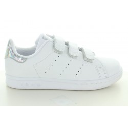 STAN SMITH CF C BLANC HOLOGRAMME ARGENT